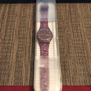 Swatch Trico Purple Dial Men's Watch